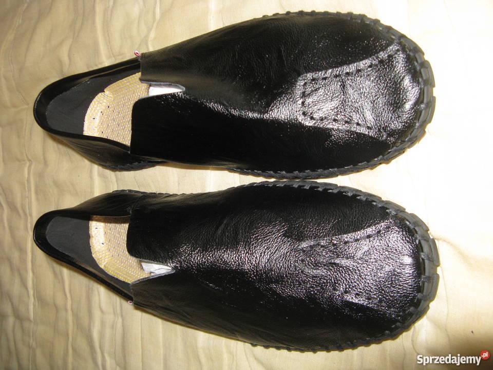Buty męskie mokasyny czarne rozmiar 45