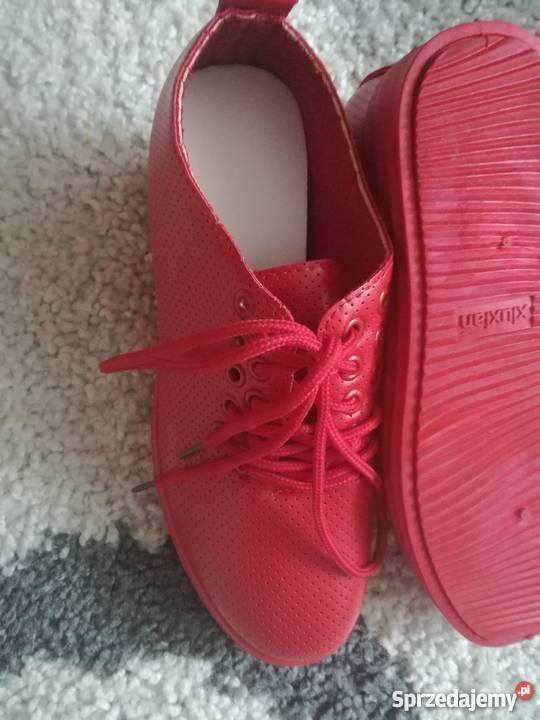 442a79b6f005e czerwone buty na koturnie - Sprzedajemy.pl