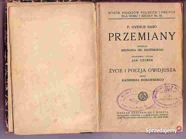 Znalezione obrazy dla zapytania P.Ovidius Naso Przemiany