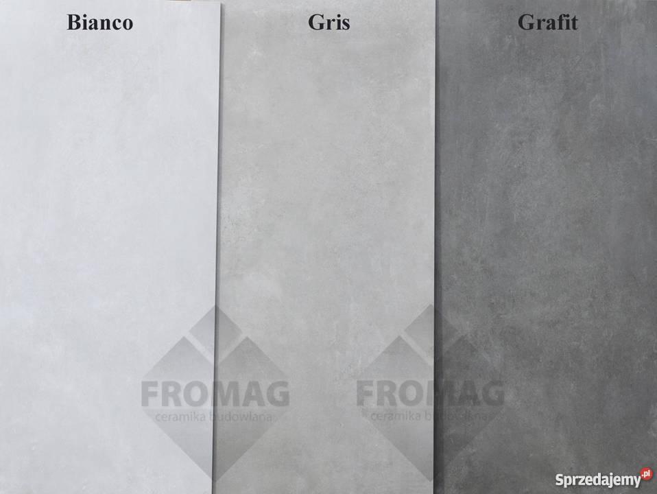 Płytki Podłogowe ścienne 120x60 Szare Jak Beton Tassero Gris Zielona