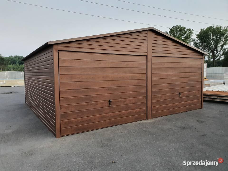 Garaż PREMIUM 6x5 2x uchylna ORZECH dwuspad CAŁY KRAJ raty!