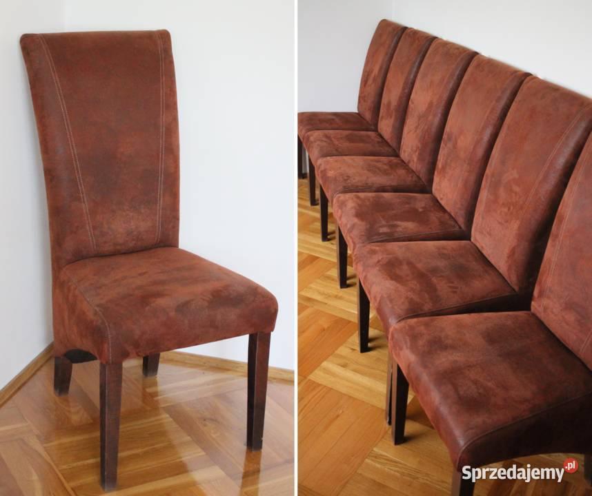 Krzesła tapicerowane - 6 sztuk, bardzo PIĘKNE