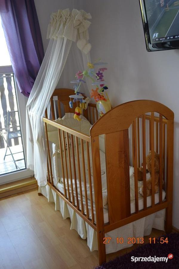 Cudowne łóżeczko dziecięce z całym wyposażeniem śląskie Łaziska Górne