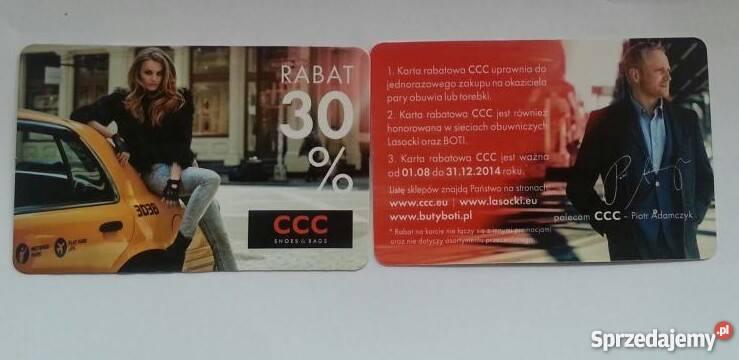 Karta Rabatowa Ccc 30 Jesien Zima Gniezno Sprzedajemy Pl