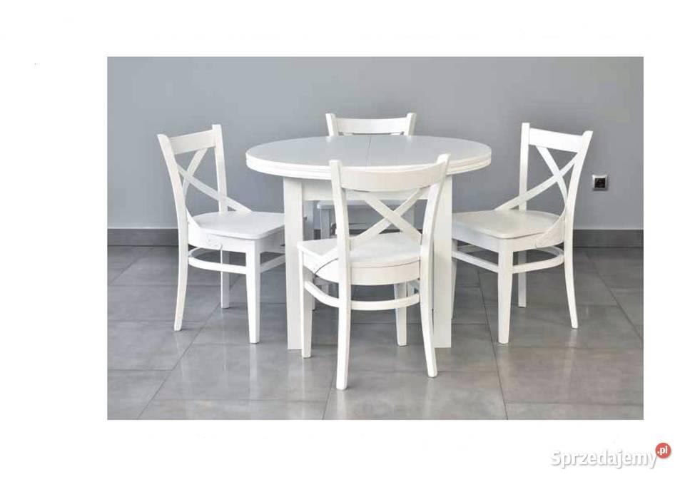 Zestaw Stół Okrągły + 4 Stylowe krzesła-Tanio!