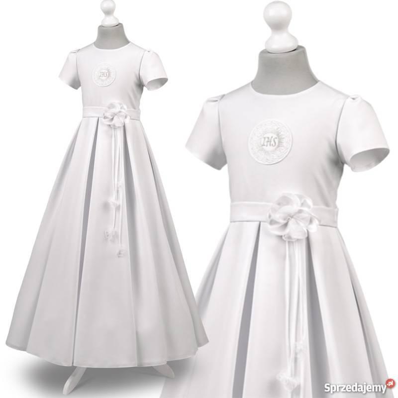 92395465a8 Sukienka do komunii sukienki komunijne model Elza57BI Warszawa ...