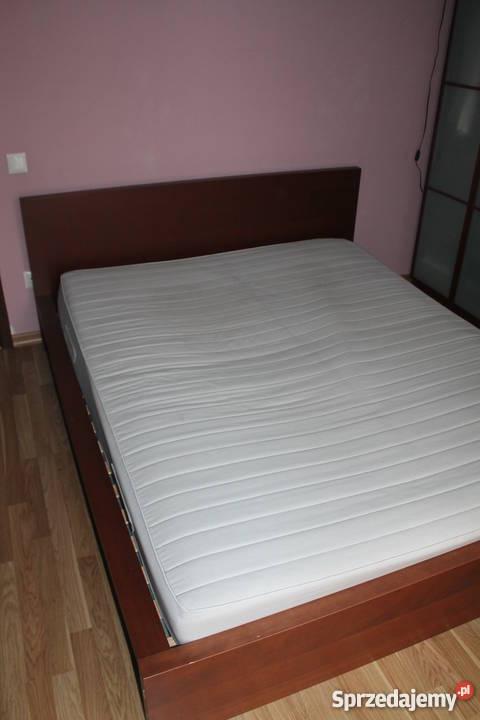 łóżko Malm Ikea 160x200 Stelaż Materac