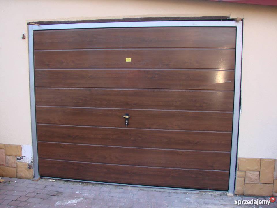 Brama Garazowa Uchylna ORZECH WINCHESTER ZŁOTY łódzkie Szydłów