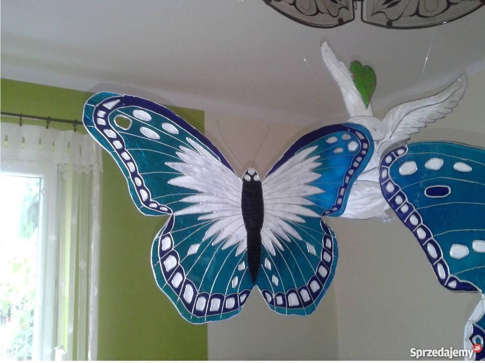 Duże Kolorowe Motyle Dekoracyjne