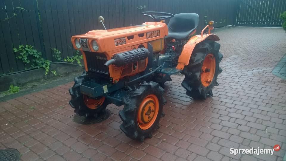 Kubota 7001 mini traktorek ogrodowy.