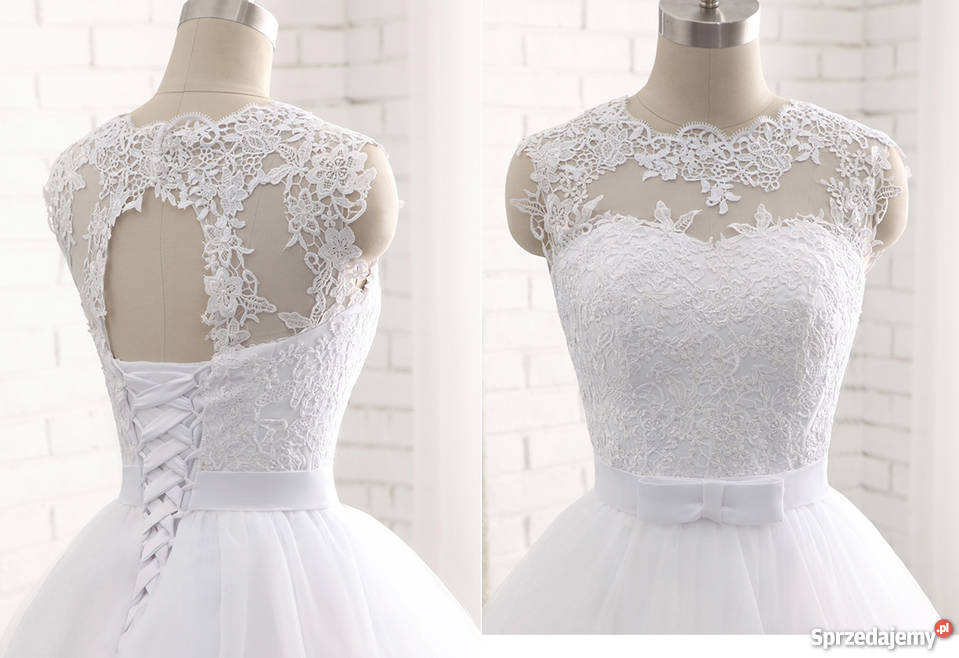 Suknie ślubne Krótkie Z Trenem Sprzedajemypl