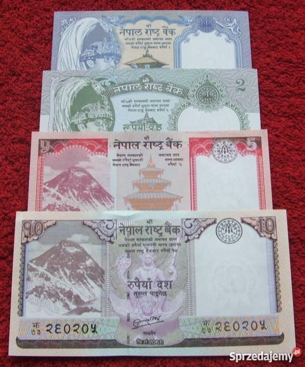 NEPAL Kolekcjonerskie Banknoty Zestaw 4 sztuki sprzedam