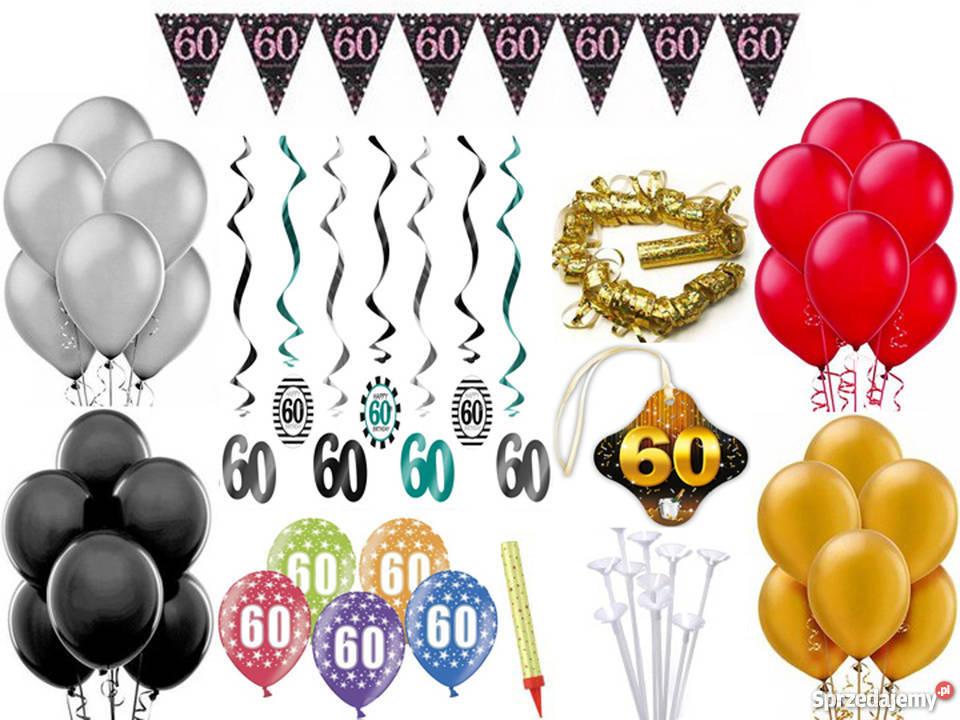 43963e82d4137a Zestaw dekoracji na 60 te urodziny Pozostałe mazowieckie Adamowizna