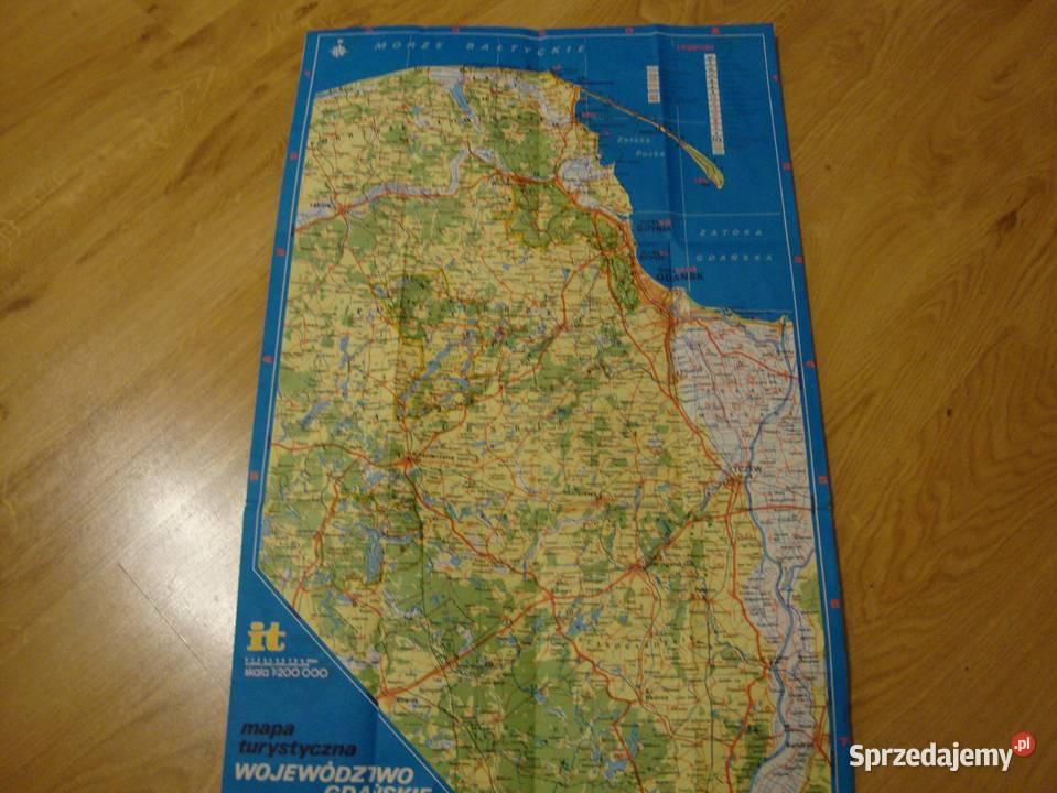 Polska Gdansk Wojewodztwo Mapa Turystyczna Plany Przewod Nowa