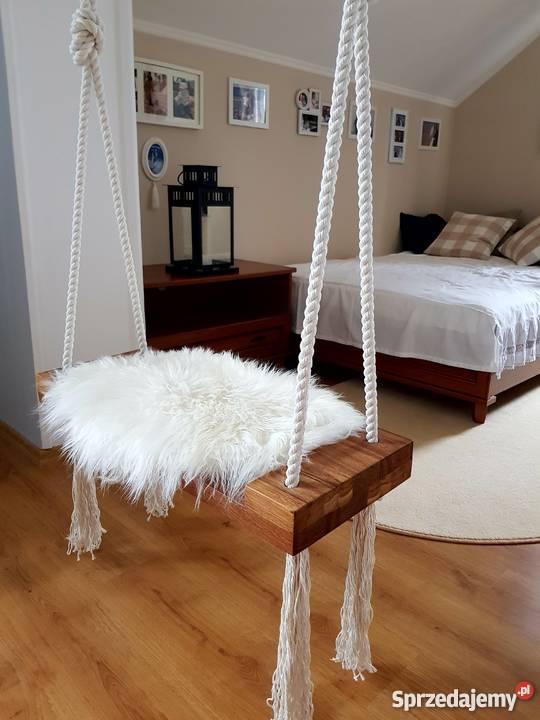 Huśtawka drewniana dębowa Cozy Scandinavian Loft Łódź