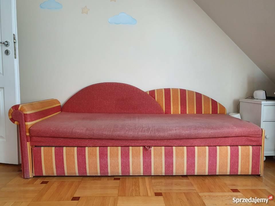 łóżko Młodzieżowe Rozkładane Z Pojemnikiem Na Pościel