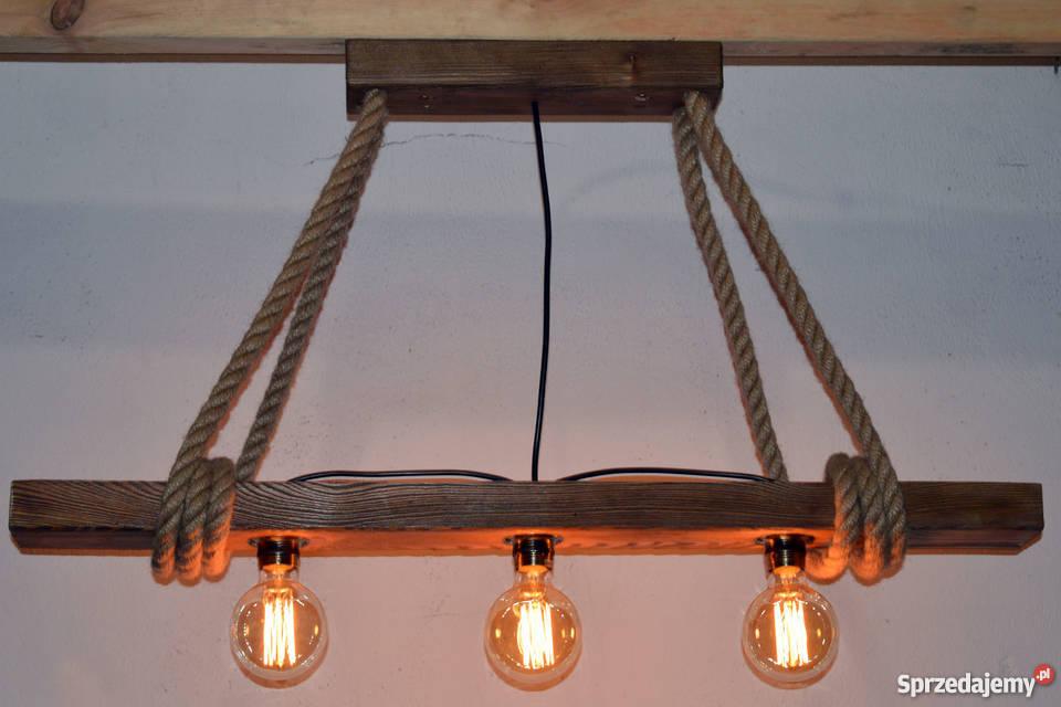 Lampa wisząca stara belka drewniana LOFT VINTAGE zachodniopomorskie Szczecin