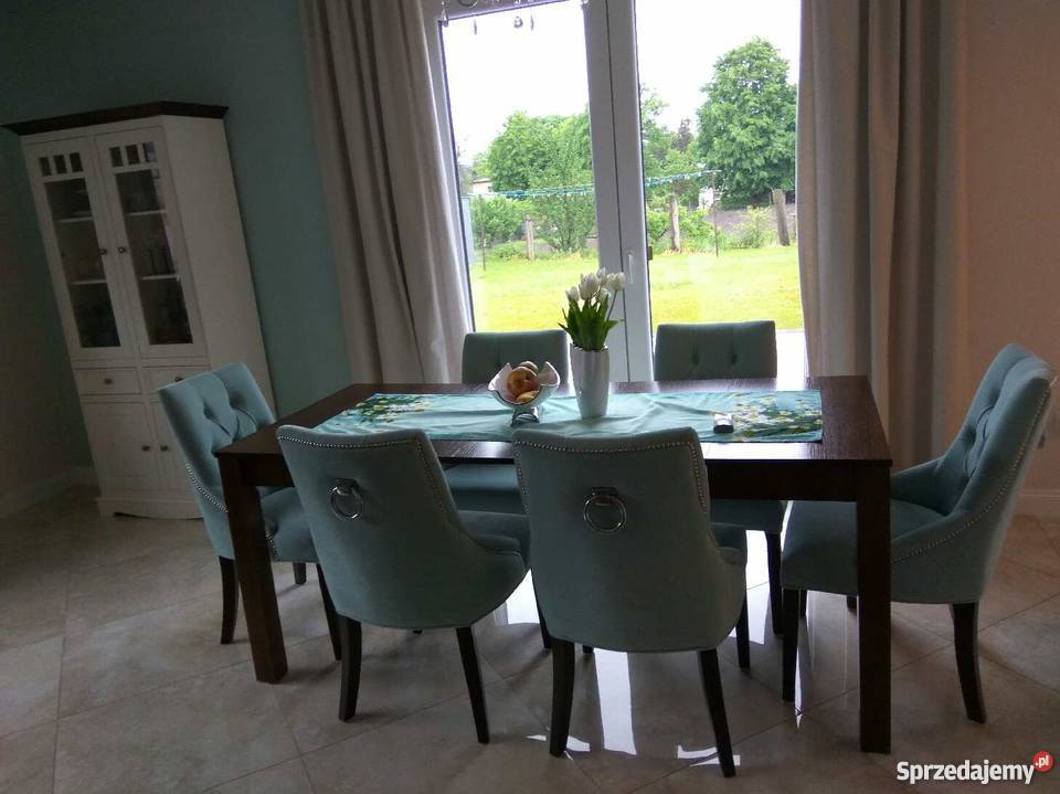 Bardzo dobry Krzesła tapicerowane chesterfield pikowane z kołatką miętowe WD31