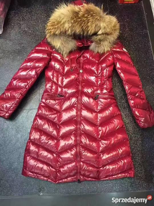 płaszcz moncler bordowe