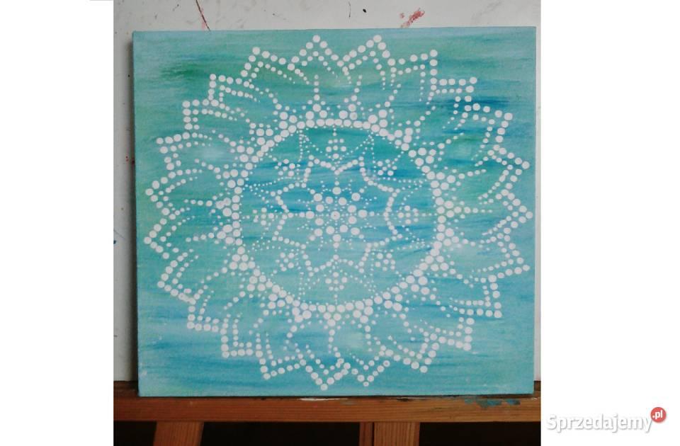 Obraz farby akrylowe na płótnie 30x30 cm mandala