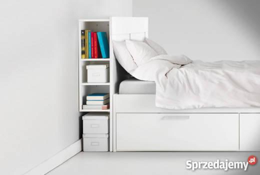łóżko Stylowe Ikea Brimnes Szuflady Rama I Zagłówek Białe