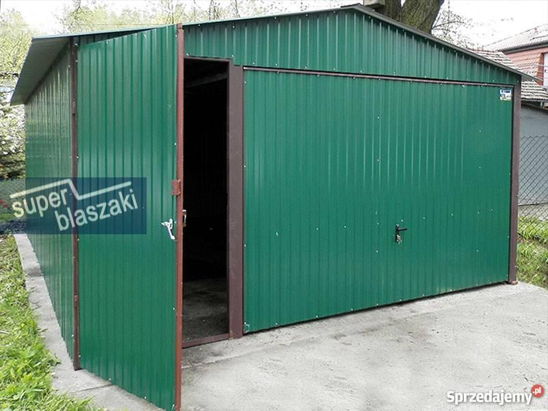 Garaż blaszany 4x6 8017 wzmocnione garaże Garaże i miejsca postojowe Radom
