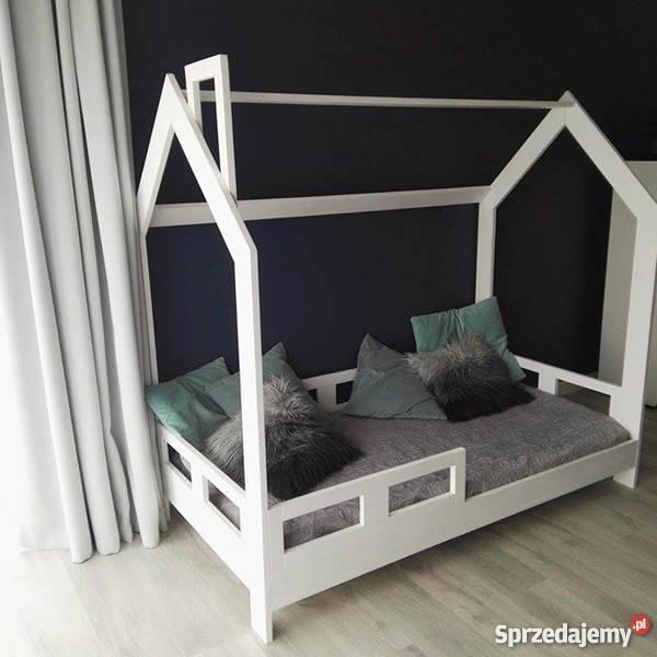 Drewniane Łóżko Dziecięce Domek Skandynawski