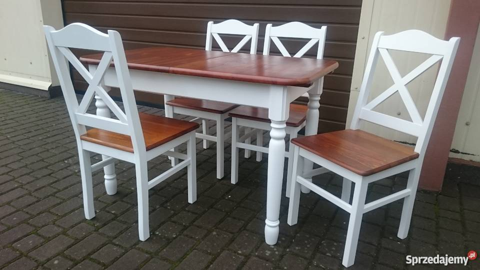 Krzesło krzyż krzyżak prowansalskie skandynawskie nowe białe
