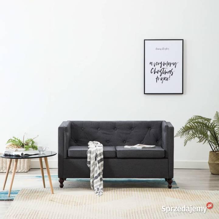 vidaXL Sofa 2-osobowa w stylu Chesterfield, 247162