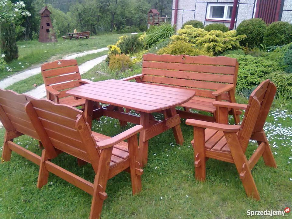 Meble Ogrodowe Komplet Ogrodowy ławy ławki Stół Krzesła