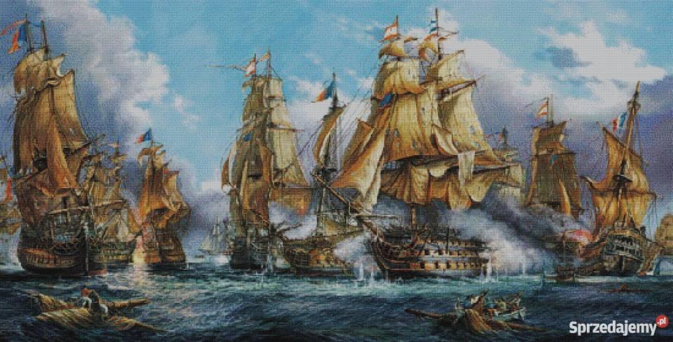 Bitwa morska wzór do wyszycia haftem krzyżykowym Siemianowice Śląskie