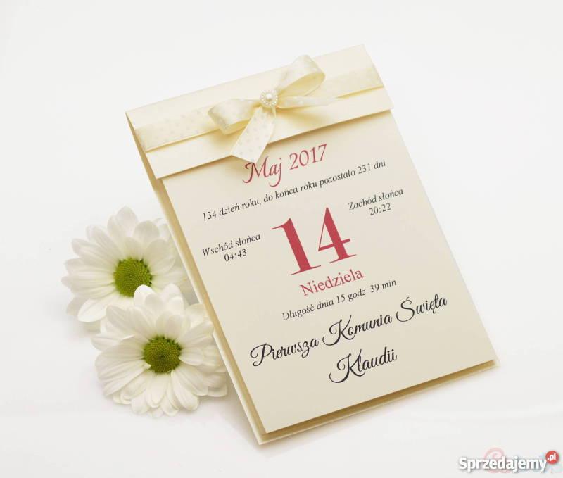 Zaproszenie Na Slub W Formie Kartki Z Kalendarza