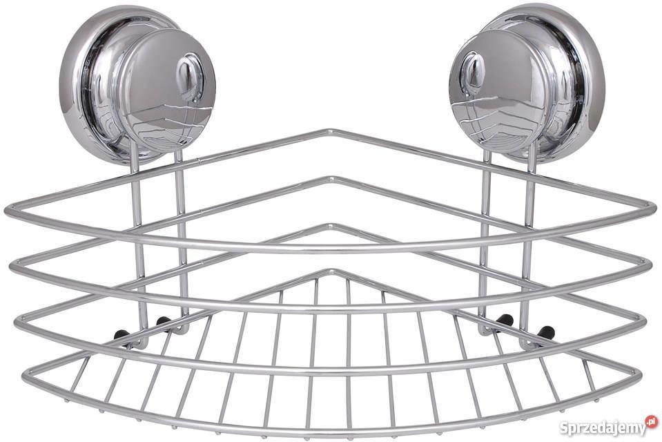 Narożny Koszyk Pod Prysznic Półka łazienkowa Na Przyssawki