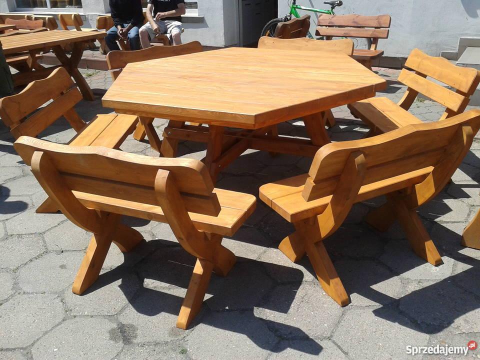 Komplet ławy Sześciokątny Duży