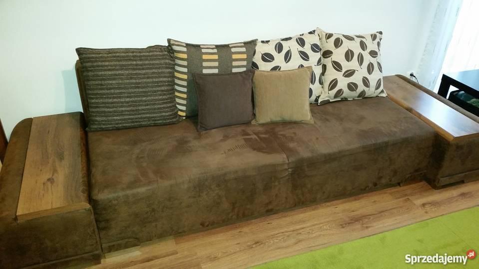 Sofa Kanapa Indiana Black Red White Z Pufami Wygodna