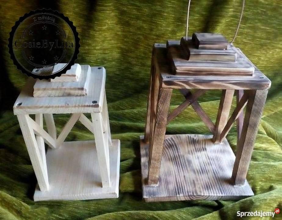 Latarenki Lampiony Z Drewna Rękodzieło Polecam
