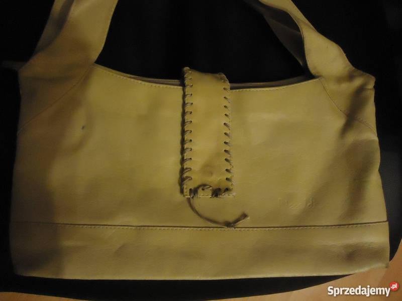 278d865e042cc Skórzana torebka beż beżowa nude Na ramię Torby i torebki Nowy Sącz