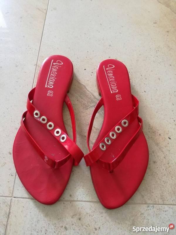 2bb35a956896c5 Czerwone skórzane klapki, japonki Kielce - Sprzedajemy.pl