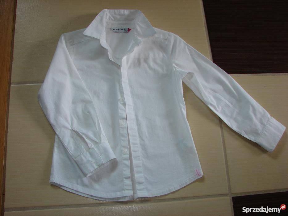Biała koszula dziewczęca na rozpoczęcie roku, RESERVED Łódź  i1jEb