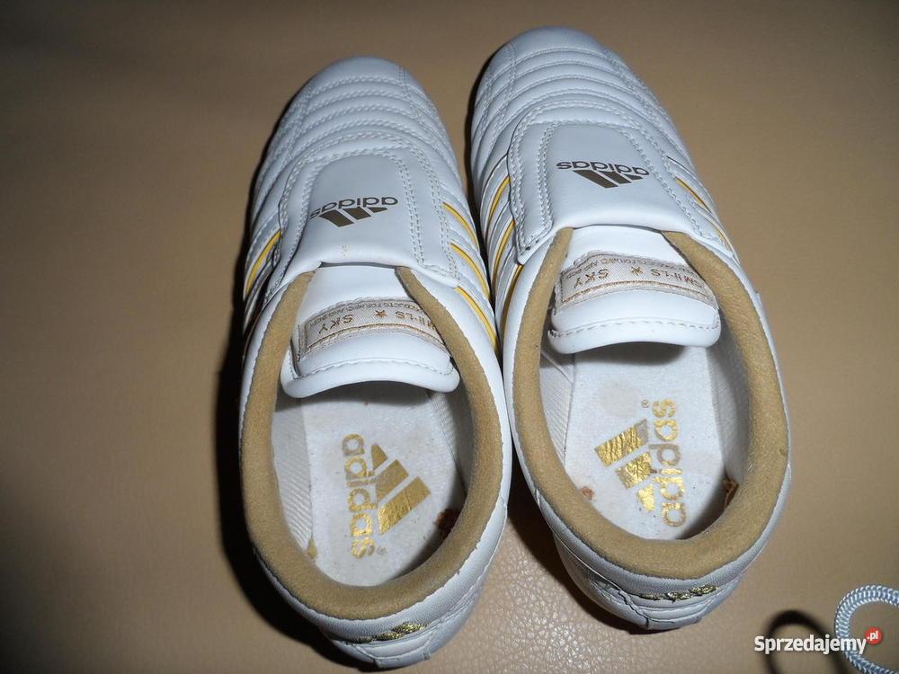 Biało złote! śliczne markowe adidasy 36 !