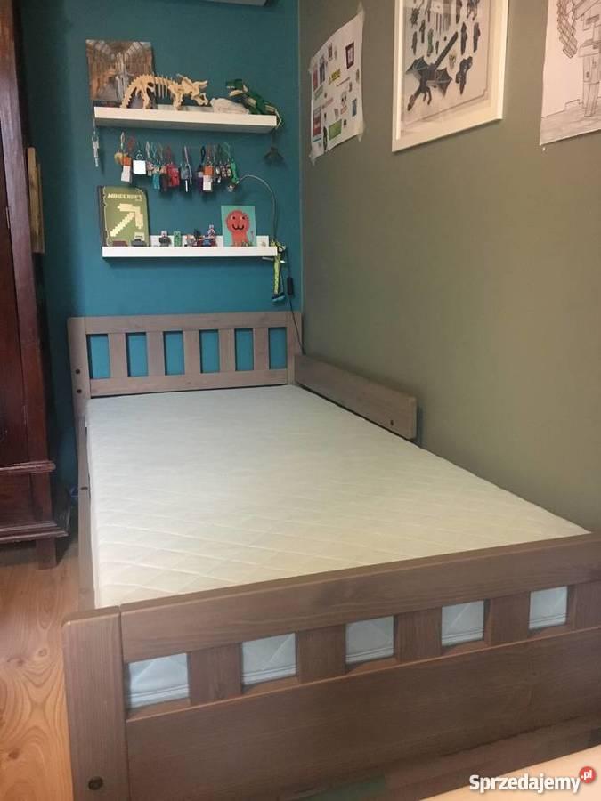 łóżko łóżeczko Drewniane Ikea Stelaż Materac Sosna