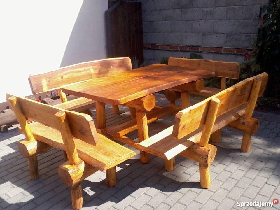 Ogromny meble ogrodowe z drewna - Sprzedajemy.pl YN19