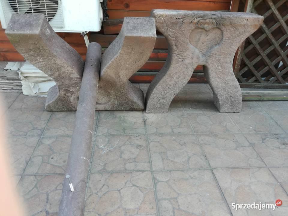 MASYWNE nogi do stołu ogrodowego z tworzywa NIEZNISZCZALNE !