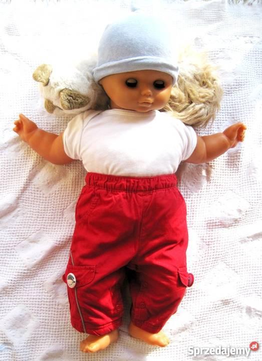 Spodnie niemowlęce czerwone chłopiec 3 6 czerwony Warszawa