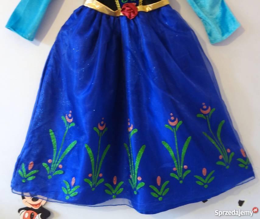 a32da86696 Sukienka Anna Elsa Frozen Kraina Lodu kostium dziewczynka  kujawsko-pomorskie Bydgoszcz sprzedam