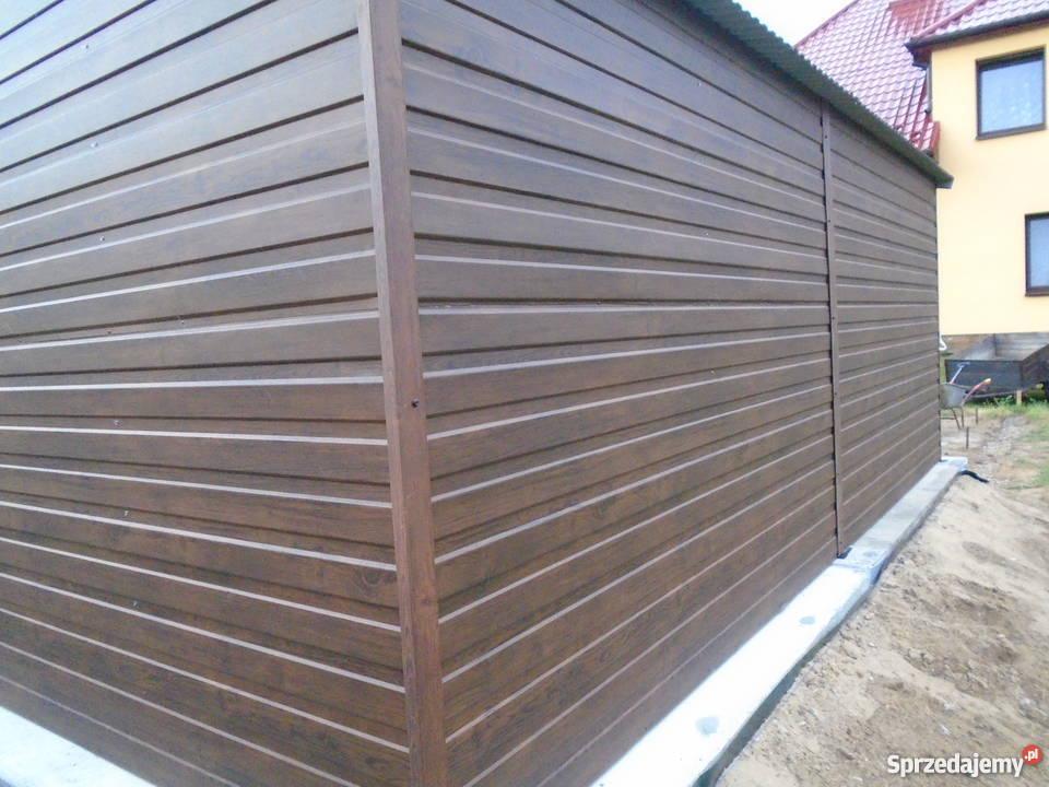 Garaż blaszany 6x6 7x5 blacha orzech złoty dąb Architektura ogrodowa Limanowa sprzedam