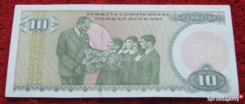 TURCJA 10 LIRASI 1970 Kolekcjonerski Banknot 1 śląskie Katowice sprzedam