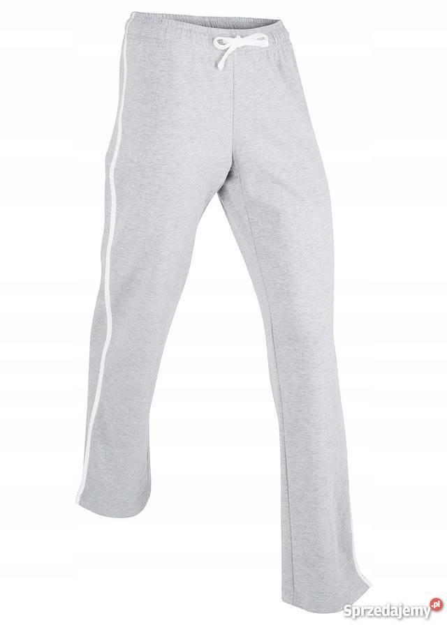 B.p.c szare spodnie dresowe z lampasami r.5658