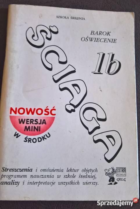 Ściaga Analiza letrur wierszyBWojnar dolnośląskie Wrocław sprzedam