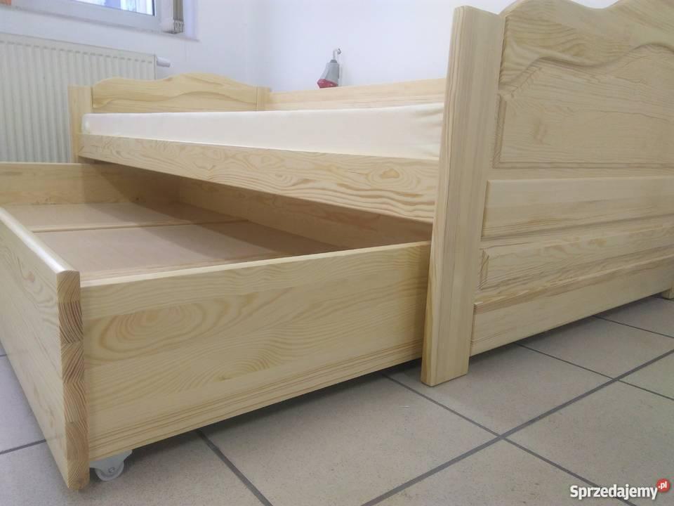 łóżko 90x200 Drewniane Z Szufladą Na Pościel
